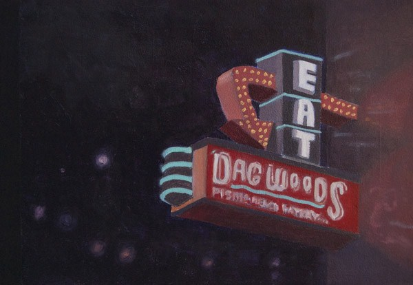 """""""DAGWOODS"""" original fine art by Gerald Schwartz"""