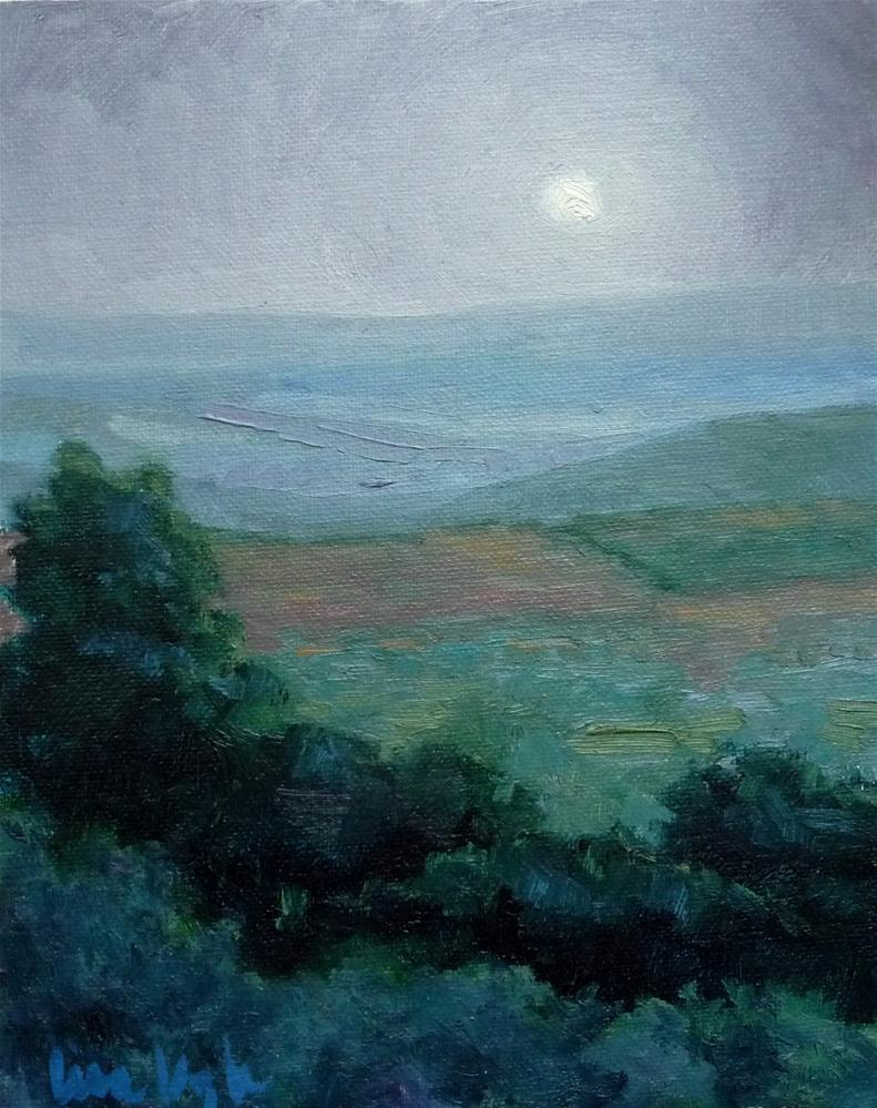 """Moonrising"" original fine art by Lisa Kyle"