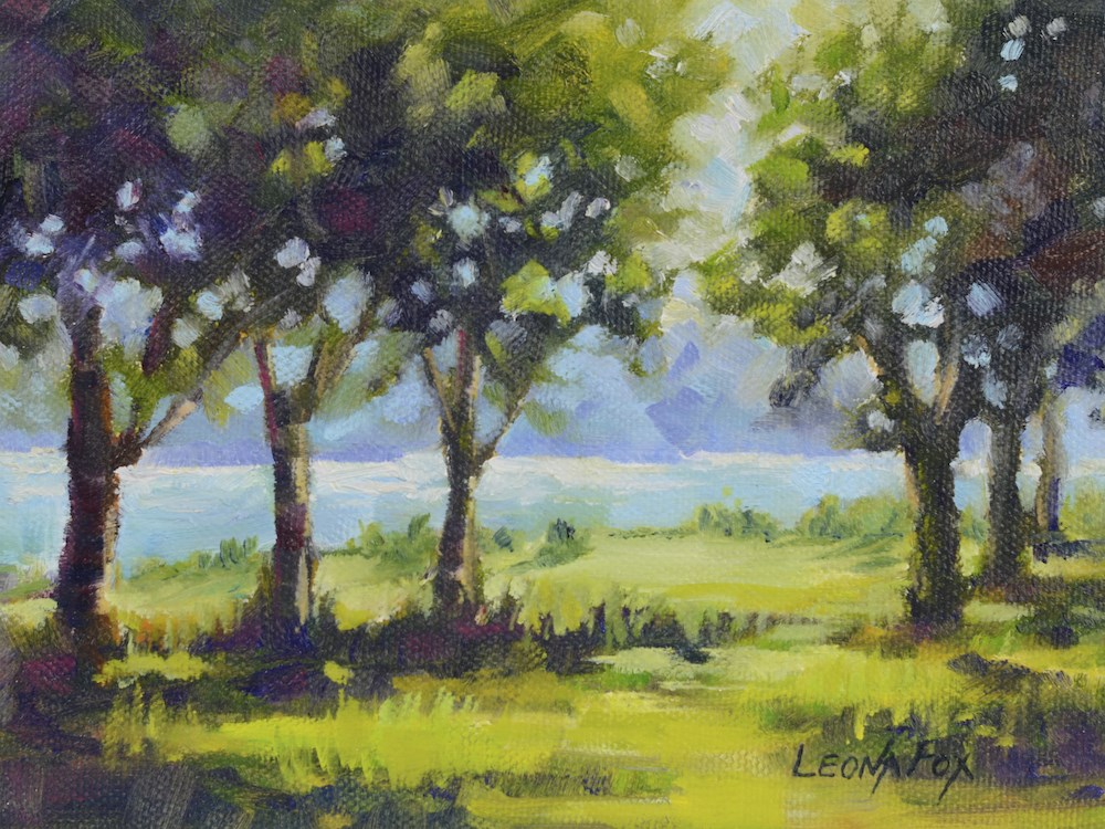 """Summer Shadows"" original fine art by Leona Fox"