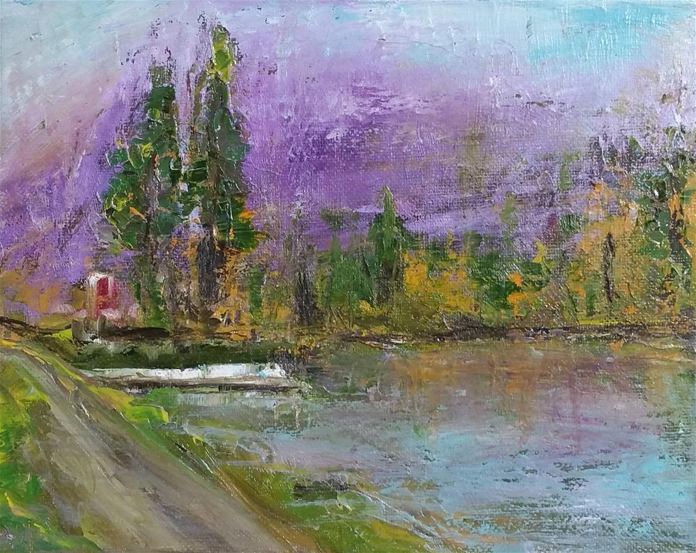 """finishing pond"" original fine art by Sun Sohovich"