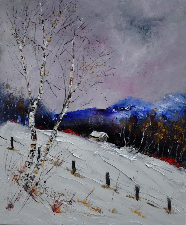 """Winter 562121"" original fine art by Pol Ledent"