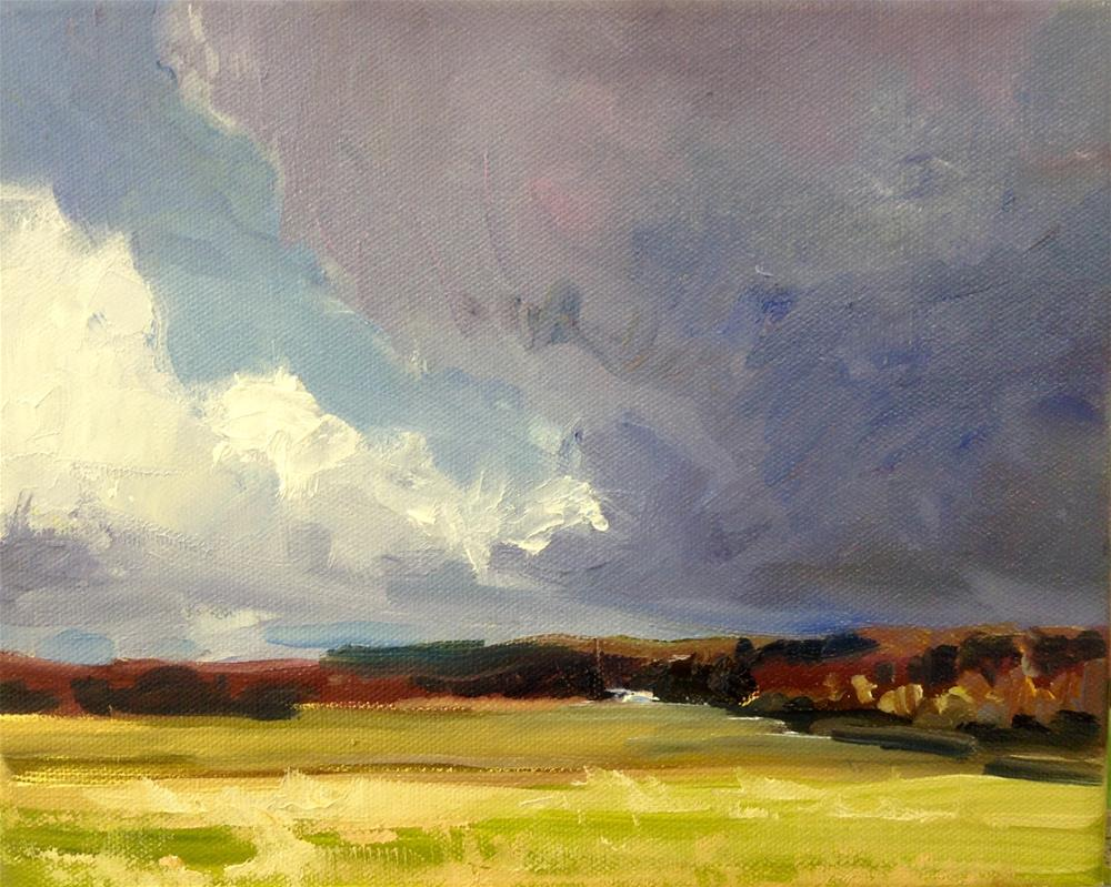 """Storm's Brewing"" original fine art by Cathy Boyd"