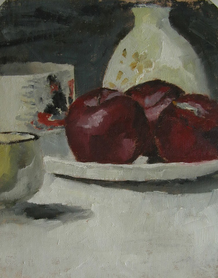 """Three Plums"" original fine art by Richard Jones"