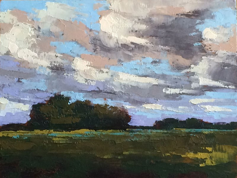 """May Hayfields"" original fine art by Mary Gilkerson"