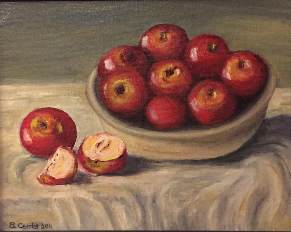 """Apple Bounty"" original fine art by Bebe Combs"