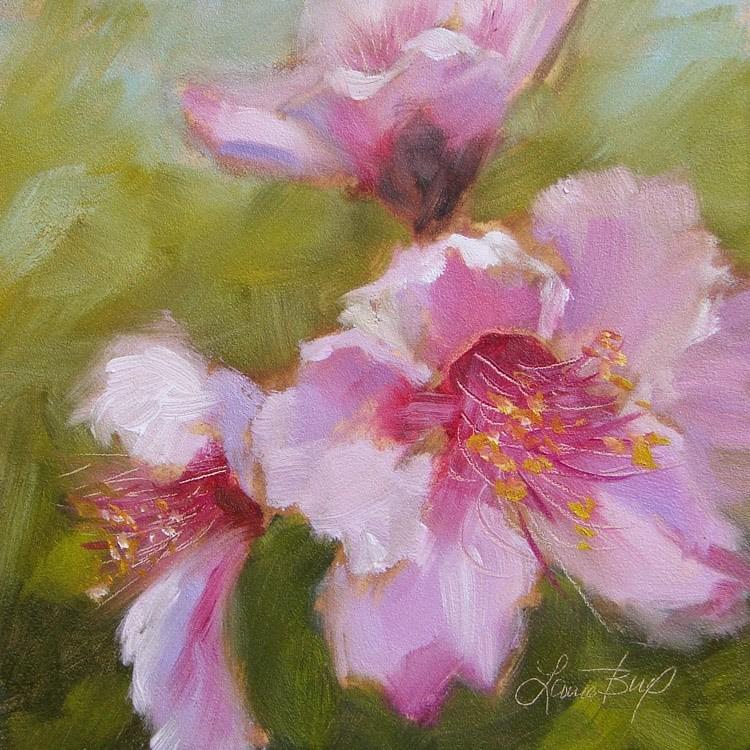 """Final Peach Blooms -342"" original fine art by Laura  Buxo"