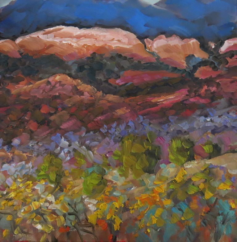 """MONASTERY CANYON"" original fine art by Dee Sanchez"