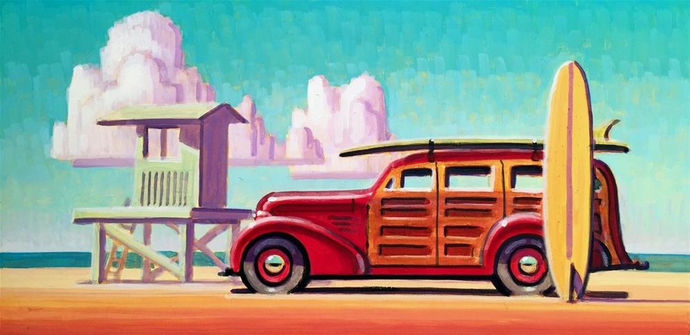 """Surf Wagon"" original fine art by Robert LaDuke"