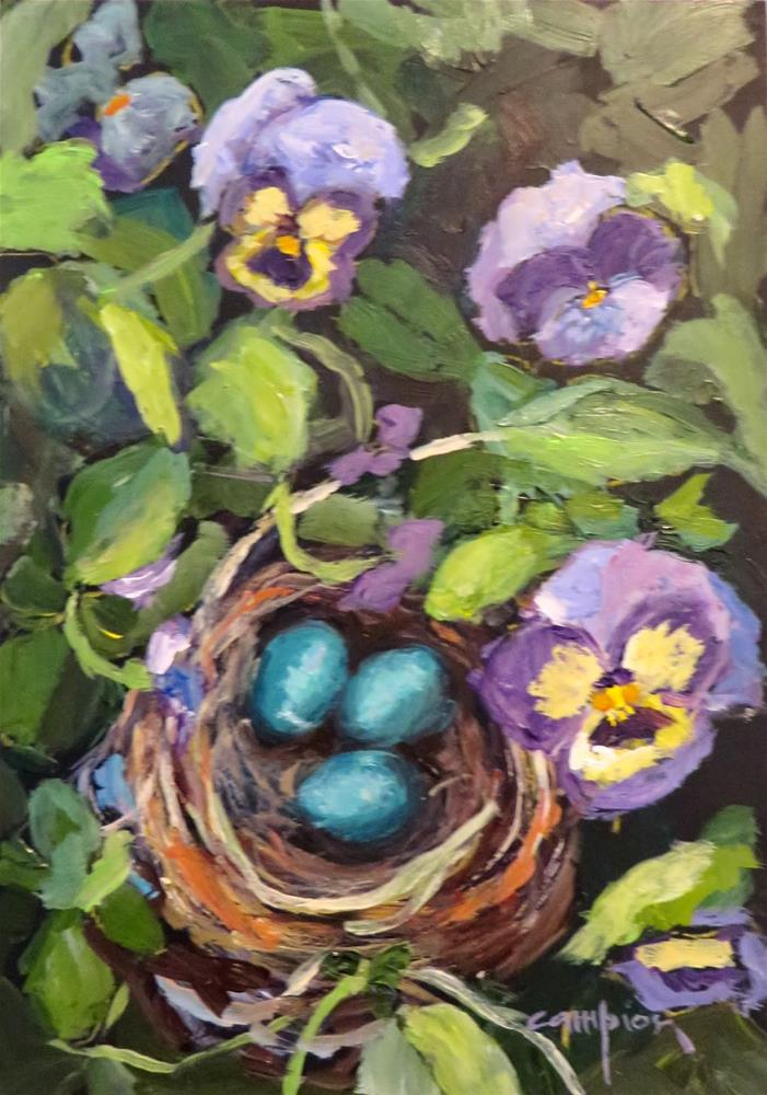 """610 Happy Little Signs of Spring"" original fine art by Diane Campion"