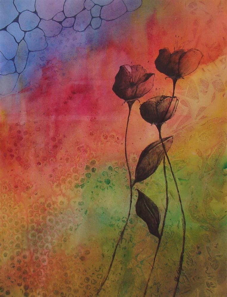 """""""Flowers II"""" original fine art by Vito Cagnazzo"""