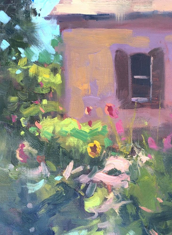 """July Garden "" original fine art by Michael Clark"