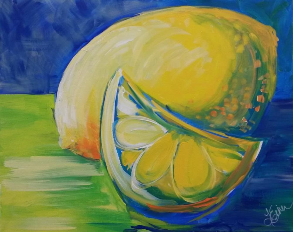 """Day 3-What a Lemon"" original fine art by Terri Einer"