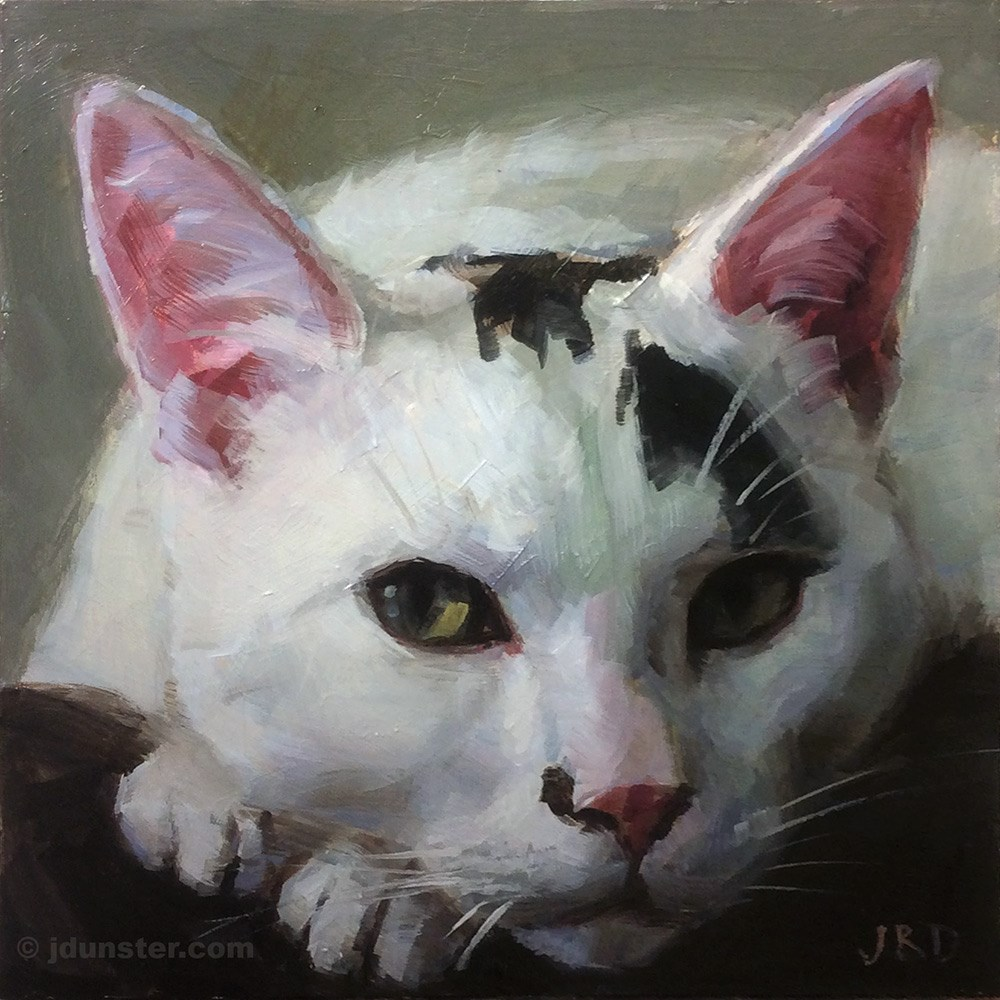 """Black Spot on Nose"" original fine art by J. Dunster"