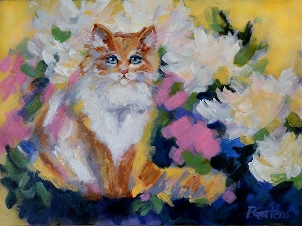"""Ginger's Jungle"" original fine art by Pamela Gatens"