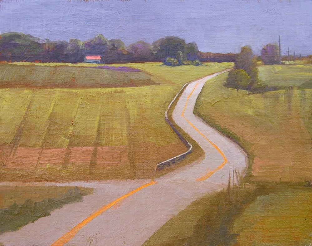 """#56 Somerset highway"" original fine art by Nancy Wallace"