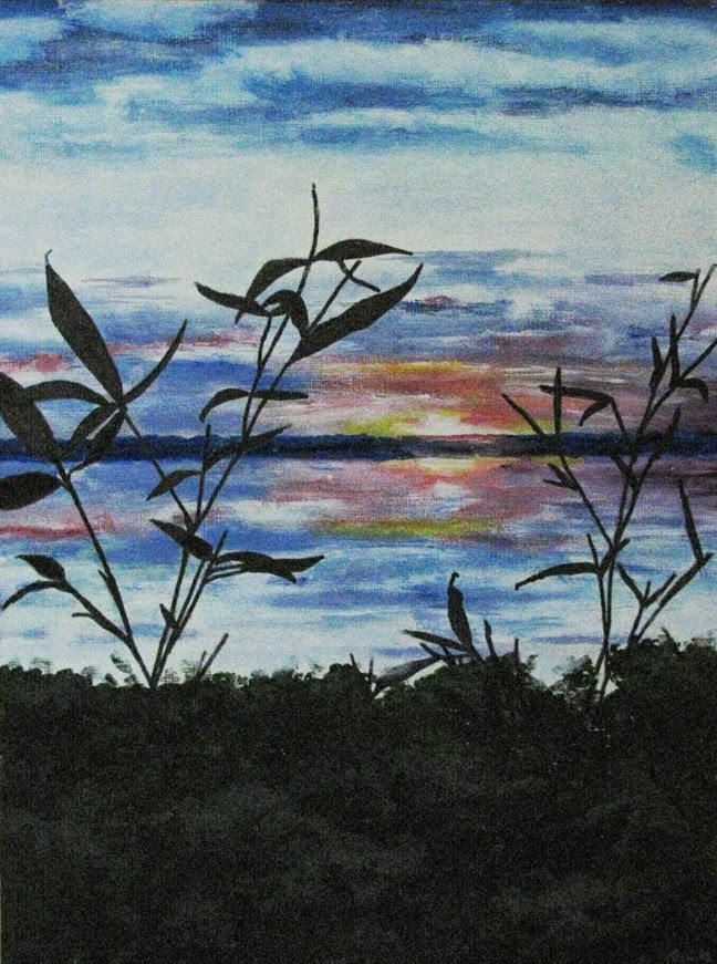 """Silhouettes"" original fine art by Nan Johnson"