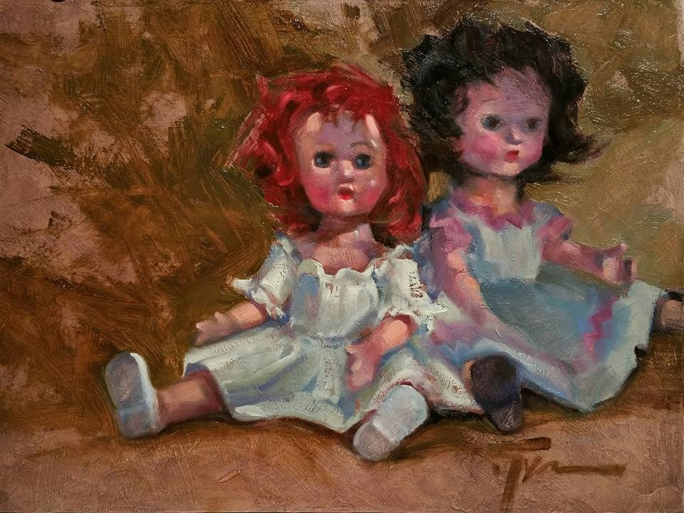 """Playing Favorites"" original fine art by Jennifer Evenhus"
