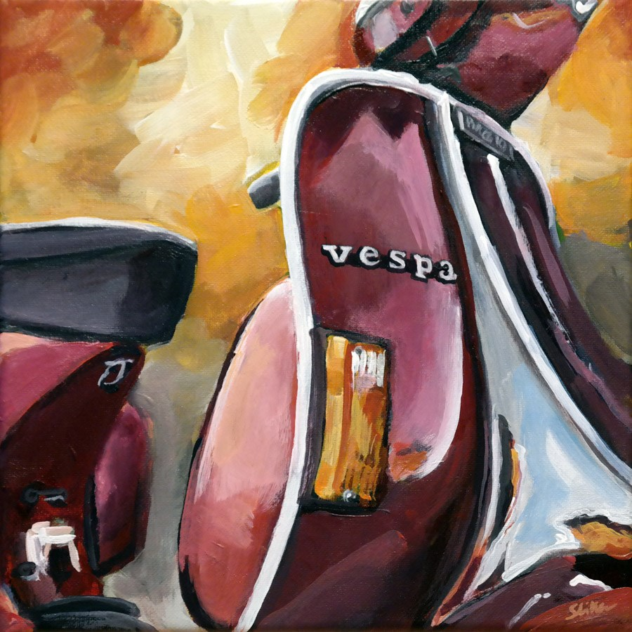 """1243 Vespa"" original fine art by Dietmar Stiller"