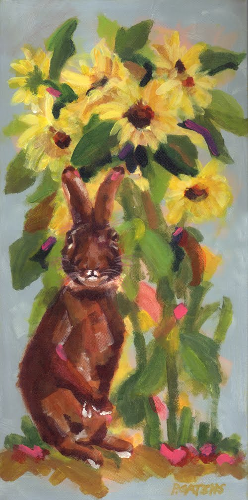 Sunny Bunny original fine art by Pamela Gatens