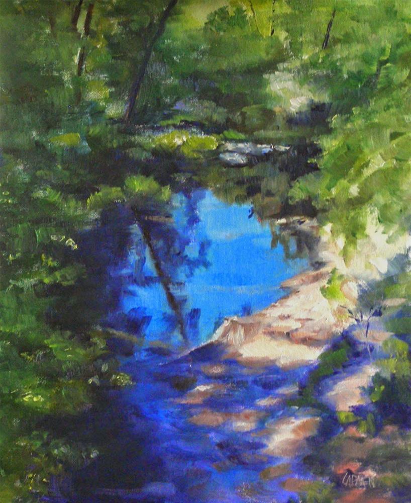 """Arizona River, 8x10 Oil on Canvas Panel, Landscape"" original fine art by Carmen Beecher"