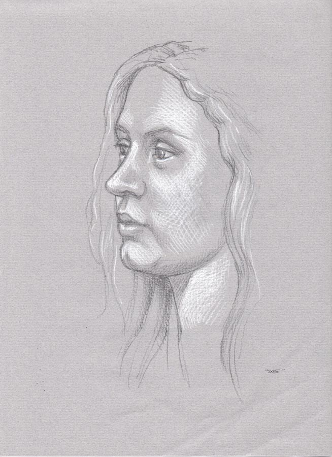 """ZOE (SOLD) pencil portrait drawing"" original fine art by Barbara Fox"
