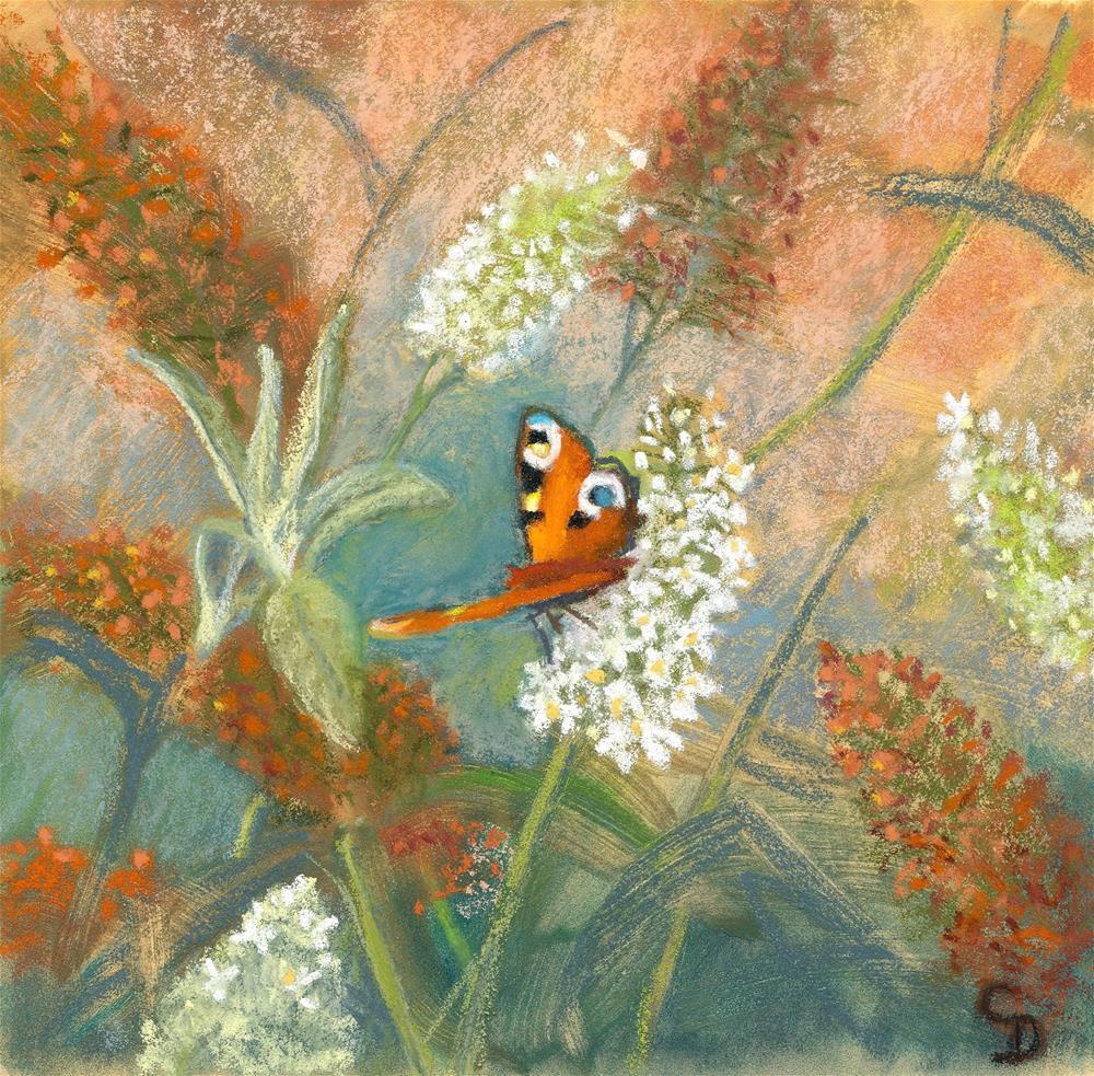 """Buddleia Visitor"" original fine art by Christine Derrick"