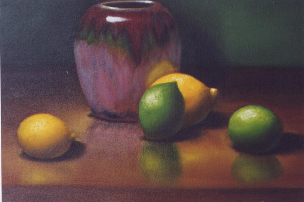 """Lemon/Lime"" original fine art by Lina Ferrara"