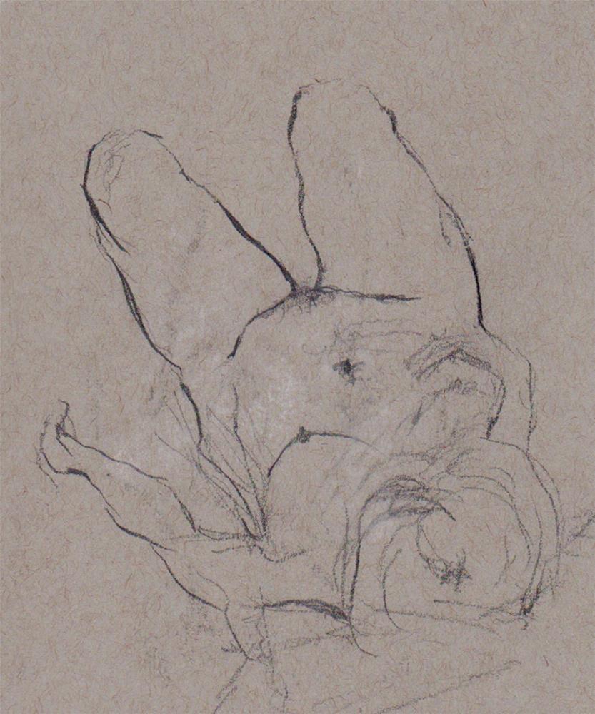 """Figure Drawing A23"" original fine art by Bob Kimball"