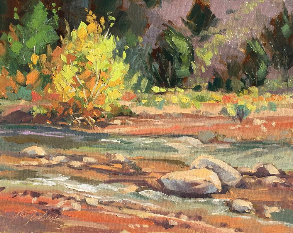 """Fall on Coal Creek"" original fine art by Mary Jabens"