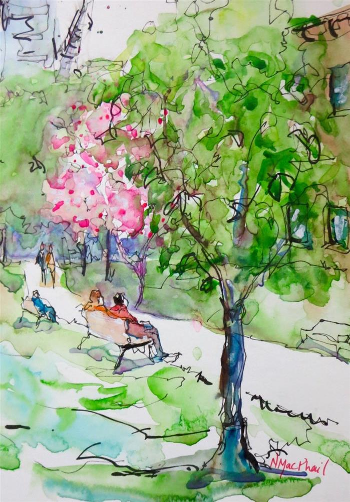 """canopy"" original fine art by Nora MacPhail"