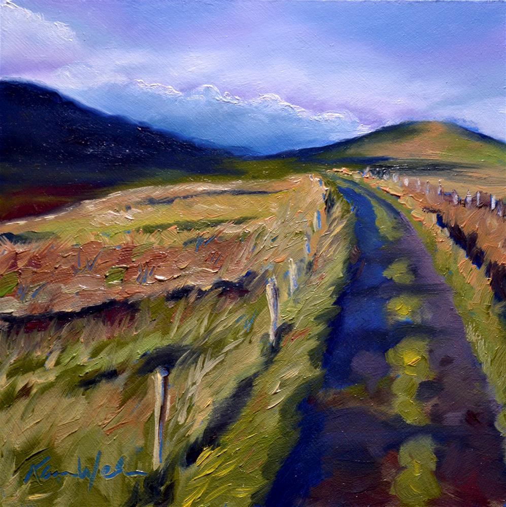 """Between two Hills"" original fine art by Karen Weber"