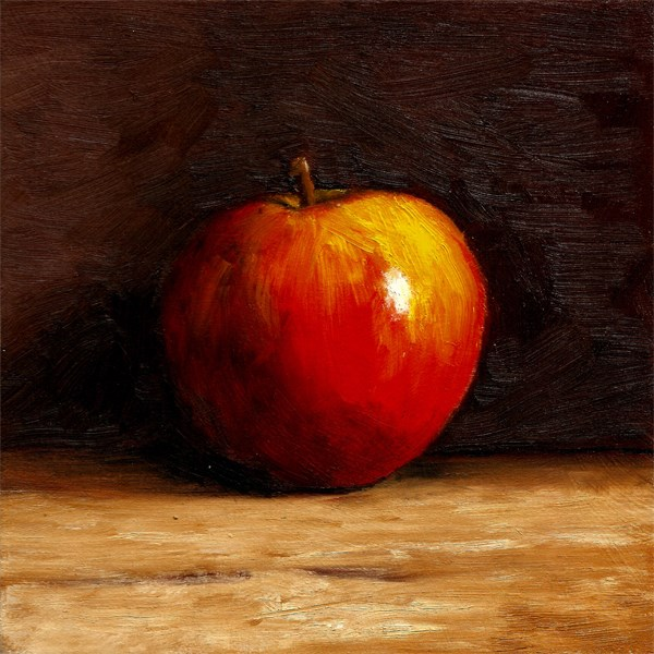 """Solo Apple"" original fine art by Peter J Sandford"