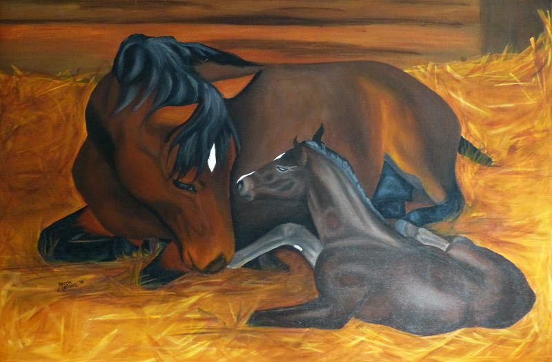 """First Meeting"" original fine art by Monique Morin Matson"