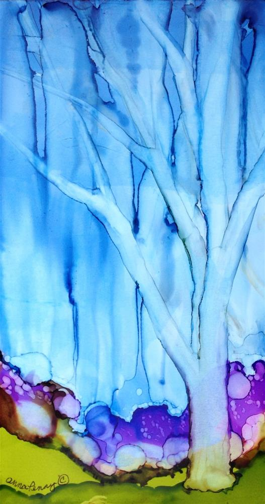 """Purple Rain"" original fine art by Anna Penny"