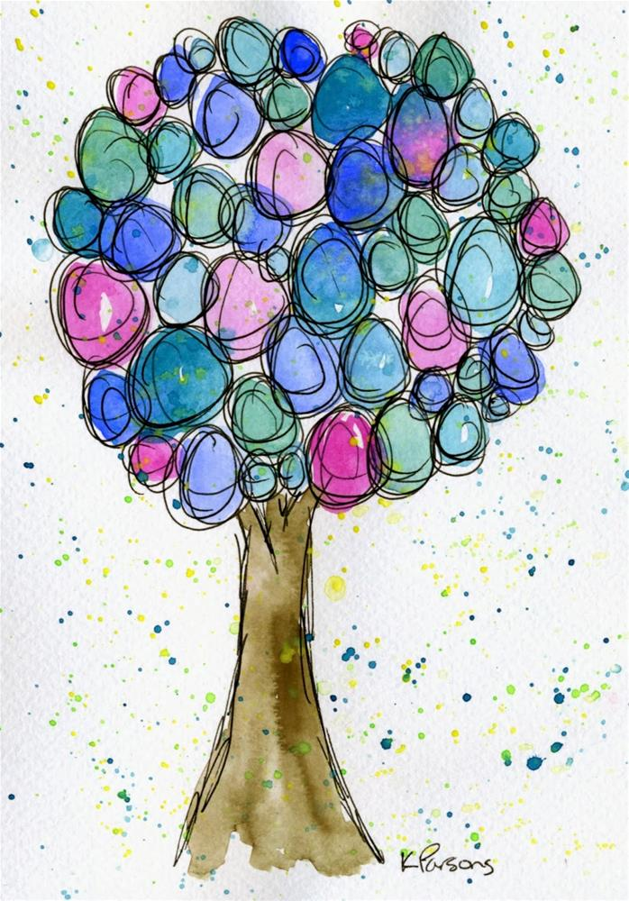 """Lovely Tree"" original fine art by Kali Parsons"