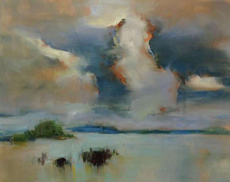 """Plein Air Puffery"" original fine art by Patti McNutt"