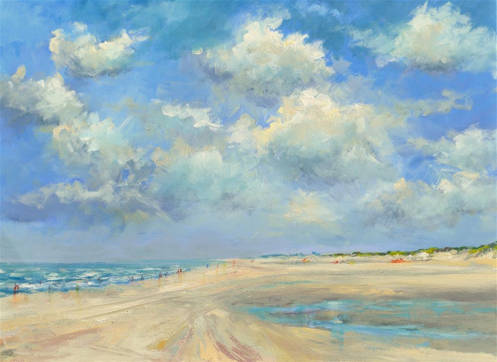 """Beachscene 16 July 2016"" original fine art by Wim Van De Wege"