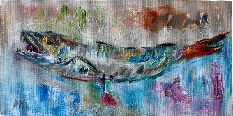 """A Fish"" original fine art by Anna  Fine Art"