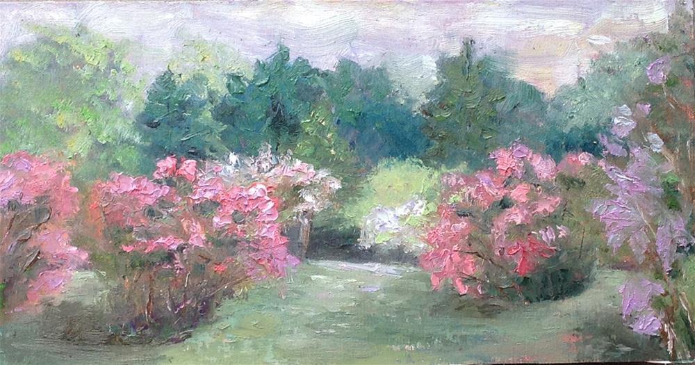 """Sky Farm Lilac Field"" original fine art by Helen Viebrock Hamel"