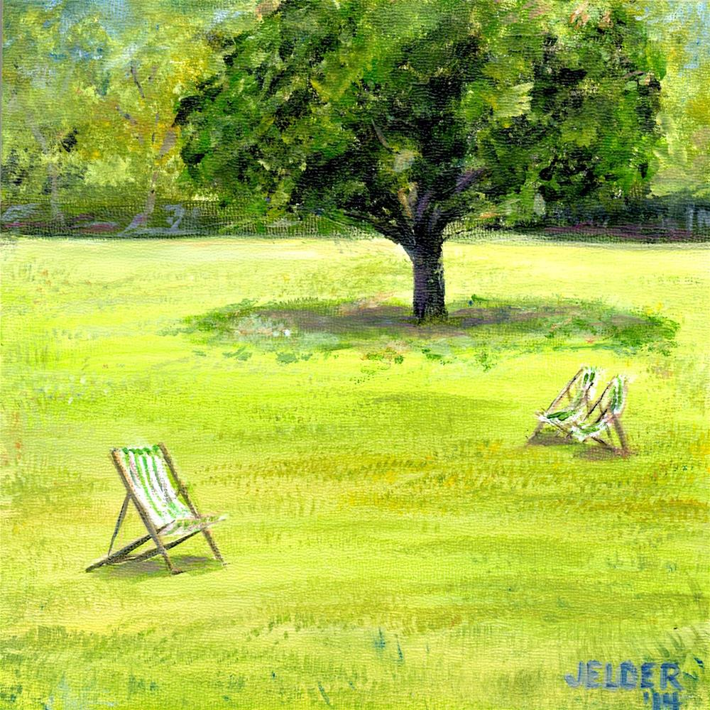 """Green Park"" original fine art by Judith Elder"