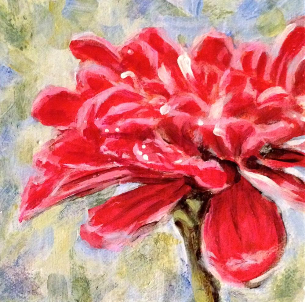 """Another Red Flower"" original fine art by Debbie Yacenda"