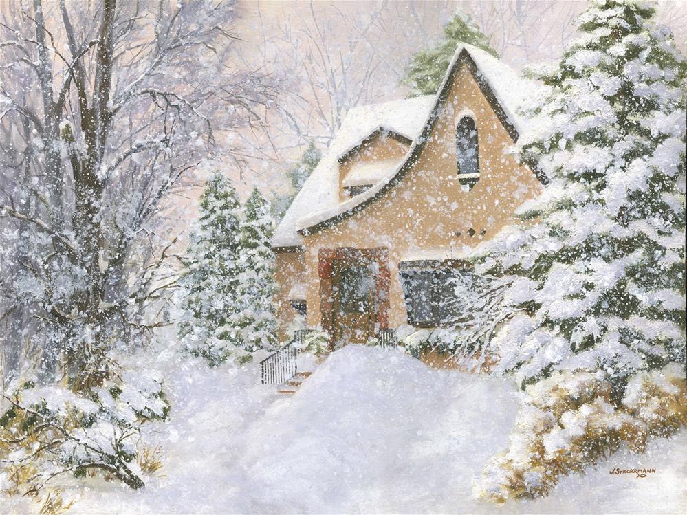 """Silent Snowfall"" original fine art by Jeanne Strohrmann"