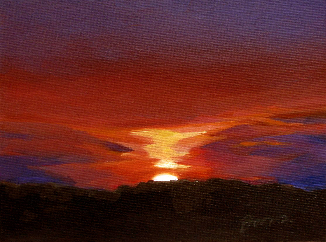 """Sunset Glow-1"" original fine art by Joanna Bingham"