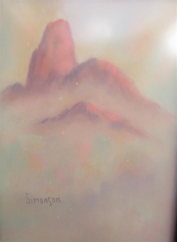 """Far Away Peaks"" original fine art by Bev Simonson"