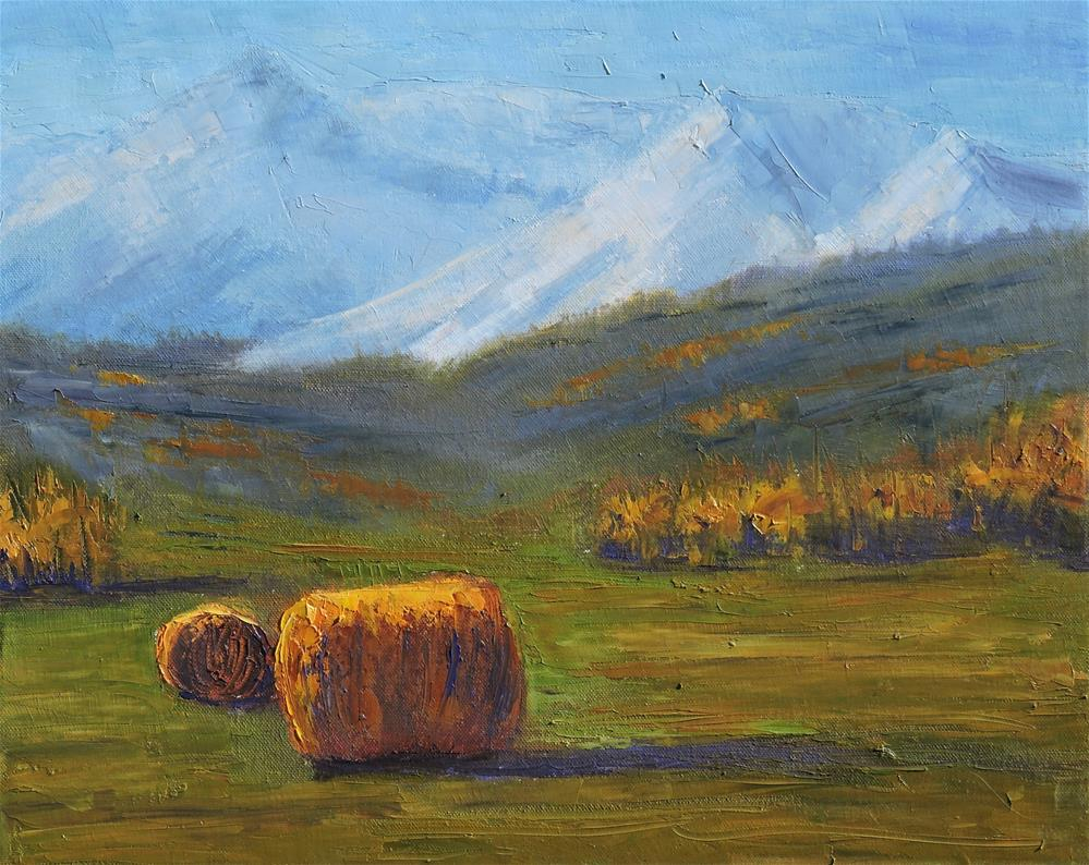 """Making Hay"" original fine art by Linda mooney"