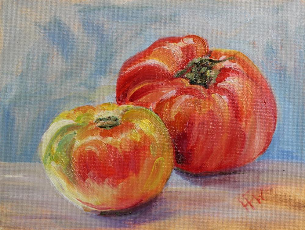 """Heirloom Tomatoes"" original fine art by H.F. Wallen"
