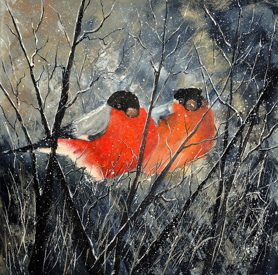 """two birds"" original fine art by Pol Ledent"