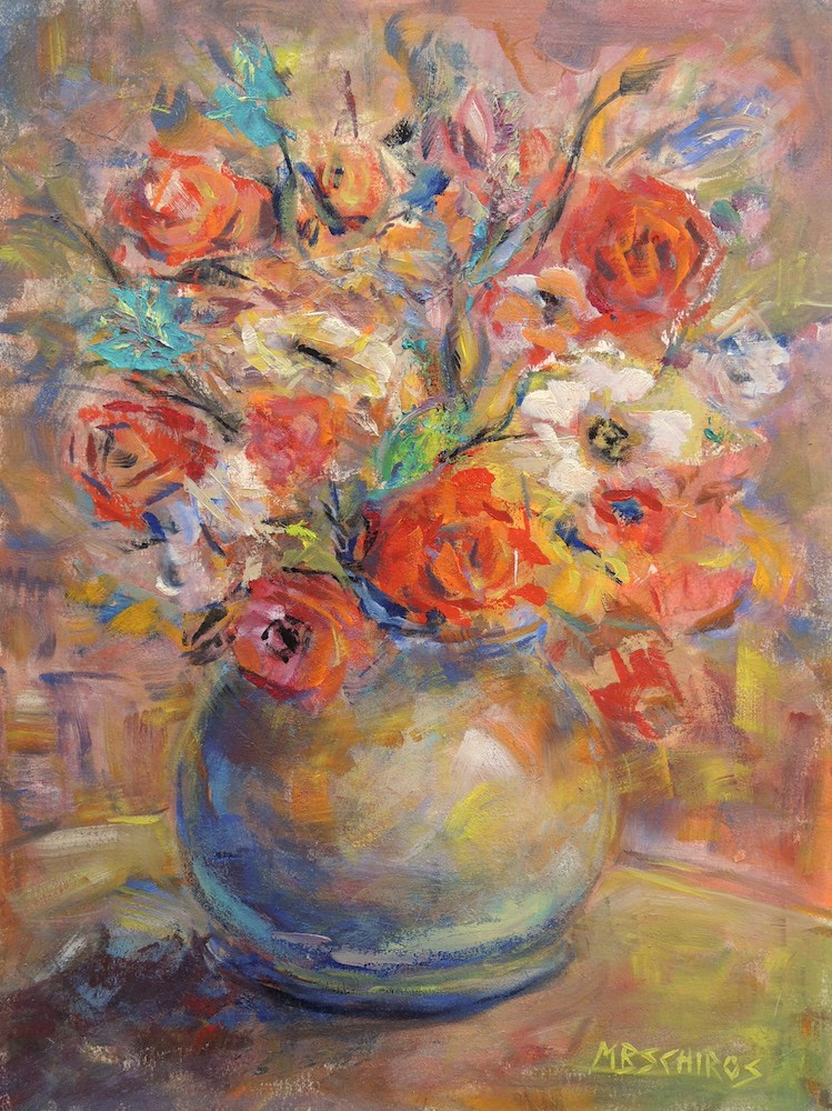 """Multi Color Flora"" original fine art by Mary Schiros"