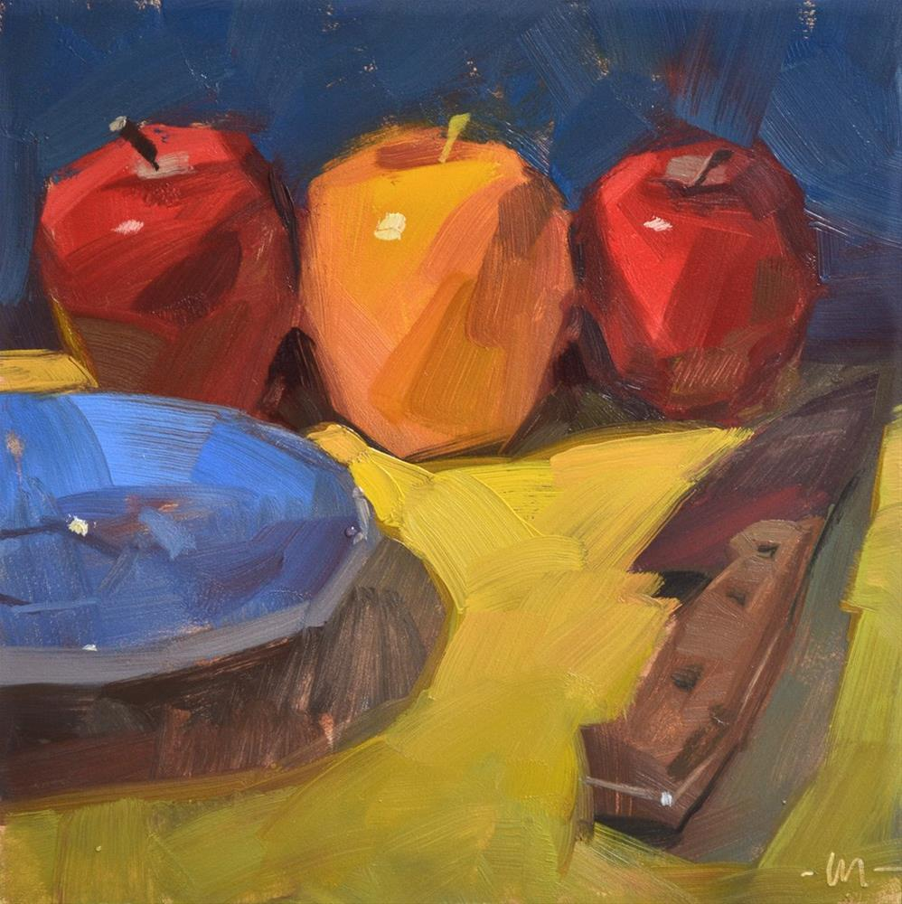 """Apple-napped"" original fine art by Carol Marine"