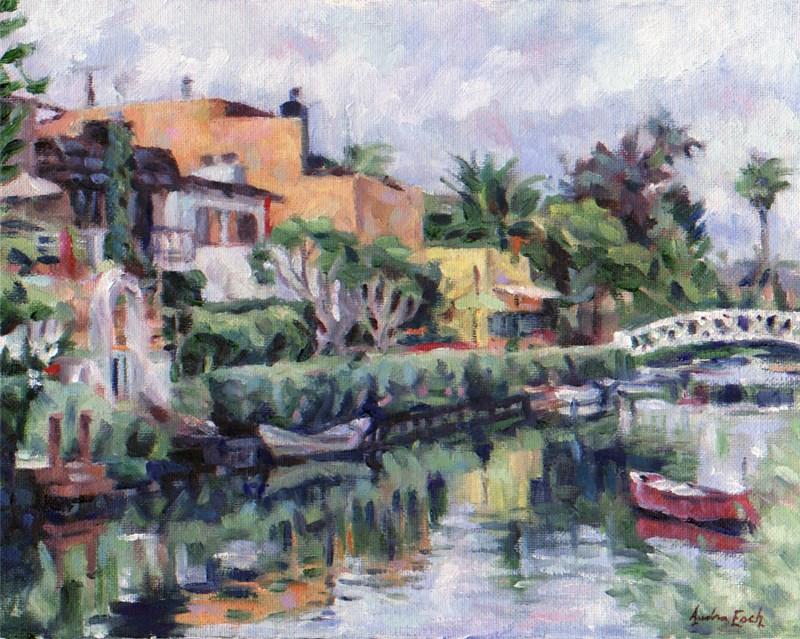 """""""Venice Canals Walkway"""" original fine art by Audra Esch"""